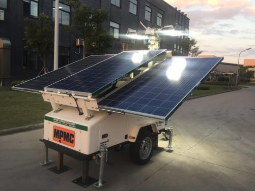 7m High Solar LED Lighting Tower Made By MPMC