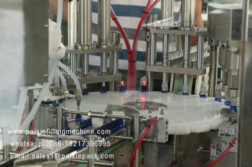 E-cigarette glass bottle and plastic bottle filling plant