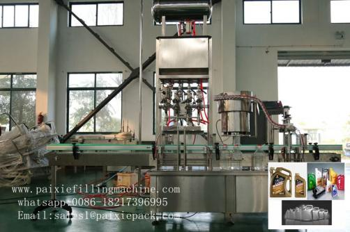 Lubricating oil / engine oil bottle filling machine