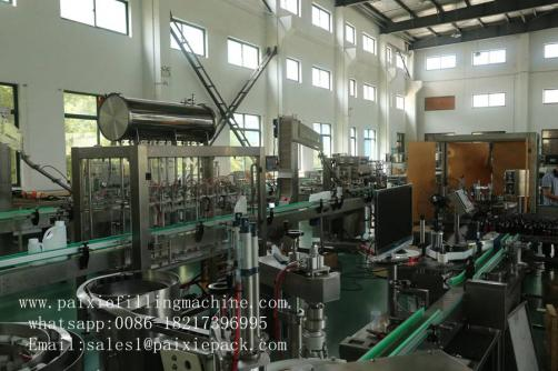 Cleaning fluid / washing liquid bottle filling capping machine