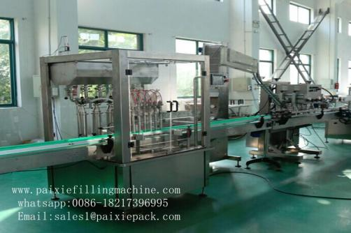 Plastic bottle honey and tomato filling and capping machine