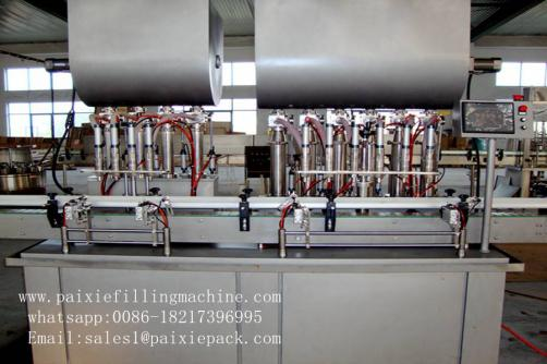 Square bottle sauce jam filling capping and labeling machine