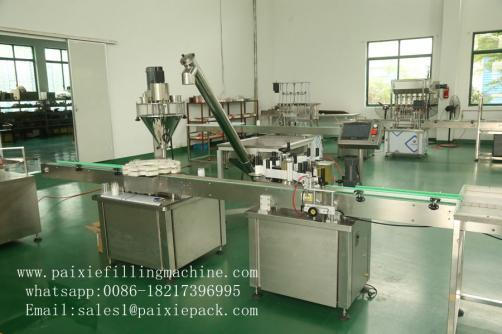 Coffee powder glass bottle filling capping machine