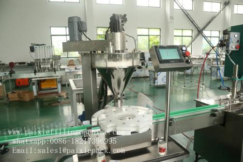 Plastic round bottle powder filling machine