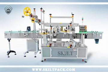 Whisky bottle top & front & back and neck labeler