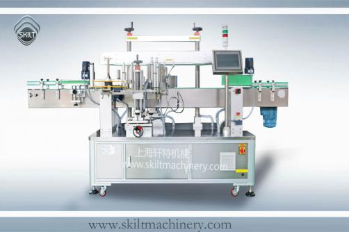 Red wine bottle labeling machine