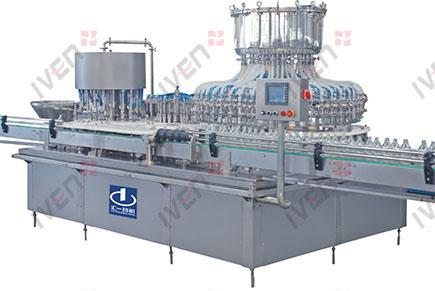 Glass Bottle Filling, Nitrogen Charging and Stoppering Machine