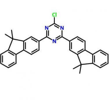 2-Chloro-4,6-Bis(9,9-Dimethyl-9H-Fluoren-2yl)-1,3,5-Triazine,1459162-69-6,C33H26ClN3