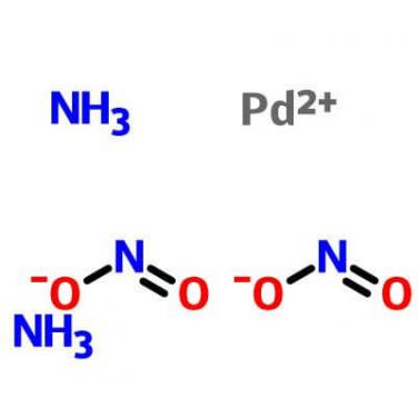 Diaminedinitritopalladium(II),14708-52-2,Pd(NH3)2(NO2)2