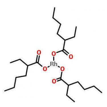 Rhodium Tris(2-Ethylhexanoate),20845-92-5,C24H45O6Rh