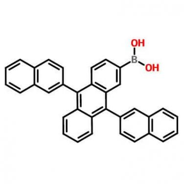 9,10-Bis(2-naphthyl)anthracene-2-ylboronic acid,867044-28-8,C34H23BO2
