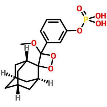 3-(2'-Spiroadamantane)-4-methoxy-4-(3''-phosphoryloxy)phenyl-1,2-dioxetane,122341-56-4,C18H23O7P