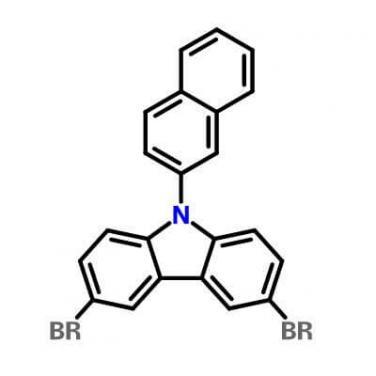 9-(2- Naphthalenyl )-3,6- DibroMo -9H- Carbazole , 1221237-83-7 , C22H13Br2N