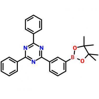 2,4-Diphenyl-6-[3-(4,4,5,5-tetramethyl-1,3,2-dioxaborolan-2-yl)phenyl]-1,3,5-triazine,1268508-31-7,C27H26BN3O2