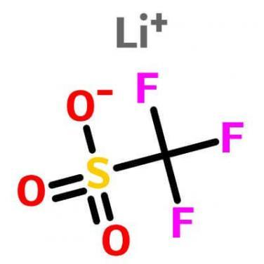 Lithium trifluorome- thanesulfonate , 33454-82-9 , CF3LiO3S