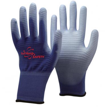 13 Gauge U3  Polyester Knitted Liner PU Palm Coated Gloves PU1350U3
