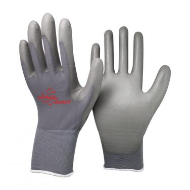 13 Gauge Nylon Knitted Liner PU Palm Coated Work Gloves PU1350-DG