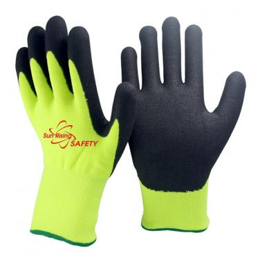 13 Gauge Nylon and Nappy Acrylic liner Nitrile Palm Coated Gloves NBR1350DS-HY/BLK