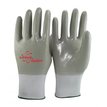 13 Gauge Nylon liner Nitrile Full Coated Water Resistant Gloves NY1359