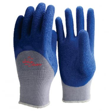 10 Gauge Polycotton Knitted Liner Crinkle Latex Half Coated Work Gloves NM10920-GR/B