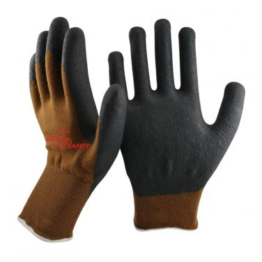 13 Gauge Nylon and Spandex and Nappy liner Micro Foam Nitrile Palm Coated Gloves NY1350FRBL
