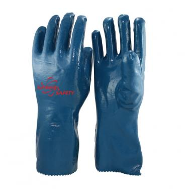 Interlock Liner Heavy Duty Nitrile Coated Gauntlet Gloves NBR7560