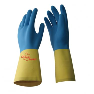 Neoprene and Latex Full Coated With Diamond Palm Gloves US11204