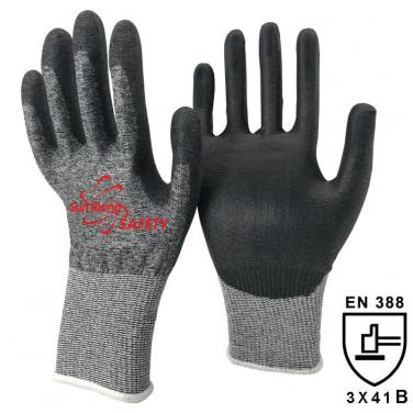 18 Gauge Super Fit Knitted Liner Palm Coated PU Cut Resistant Glove DY1850PU-H