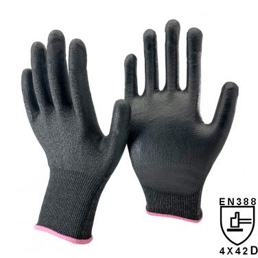 18 Gauge Super Thin Liner Palm Coated PU Cut Resistant Gloves DY1850PU-H4