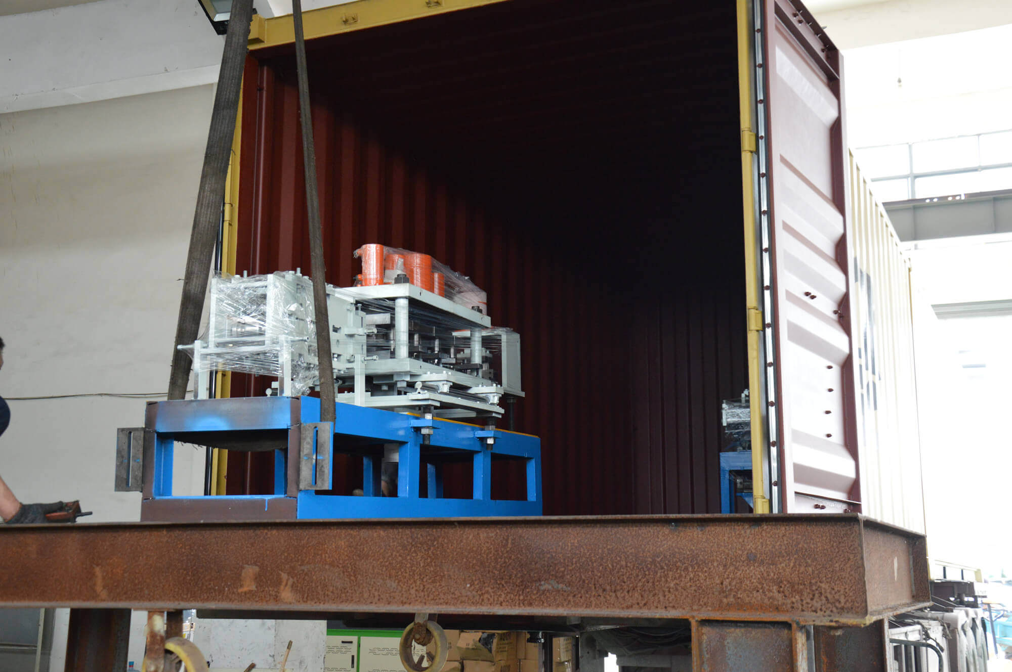Shutter Door Roll Forming Machine Ship to USA
