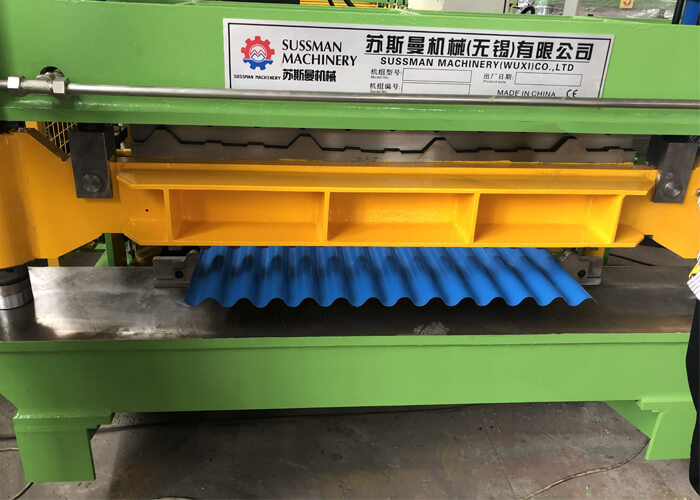 American buyer come to inspect double layer machine and cut to length line