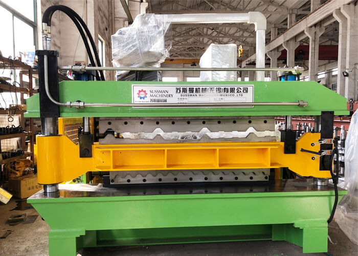 Double layer tile machine shipped to America