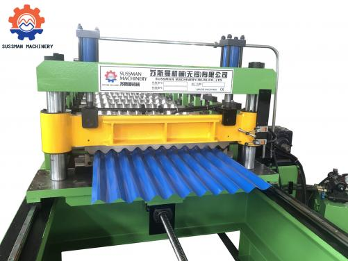 40m/min Servo Following Cutting Corrugated Roof Panel Roll Forming Machine