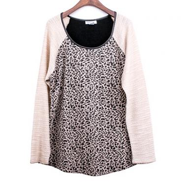 Novelty Fabric Long Sleeve Top