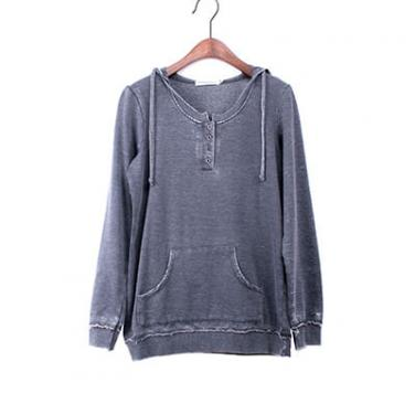 Snow Washed Long Sleeve Hoodie
