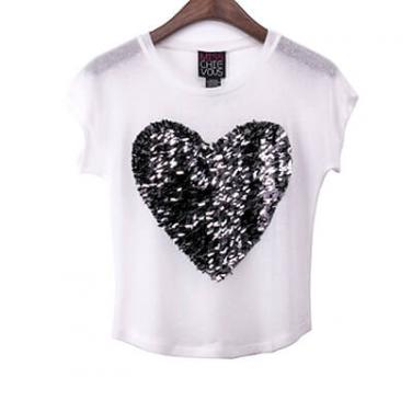 Sleeveless Sequin Heart Top
