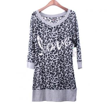 Sequin Embroidery Leopard Burnout Tunic