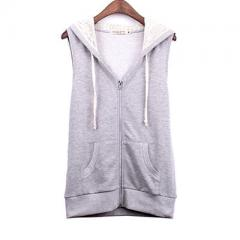 Heather Grey French Terry Zipper Hoodie