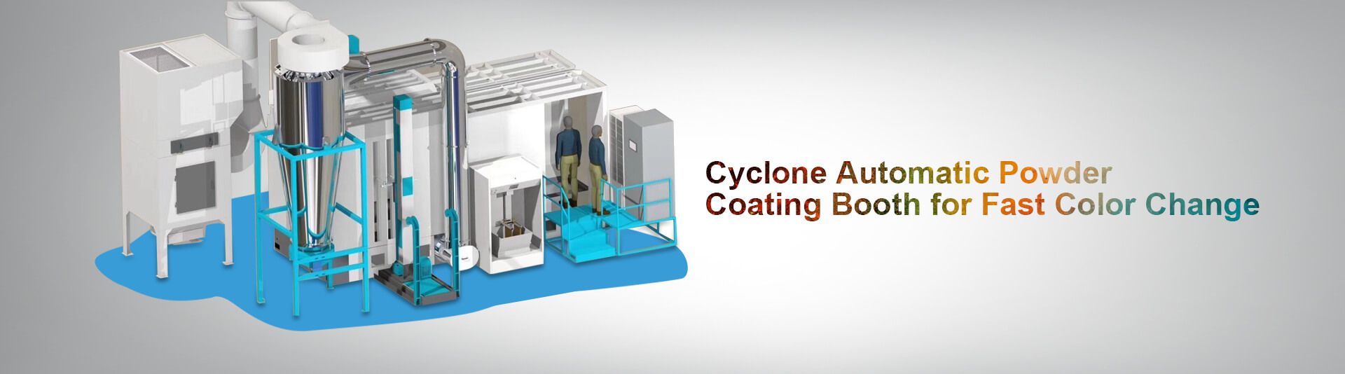 cyclone automatic powder coating booth