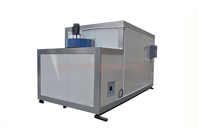 Powder coating spray curing oven