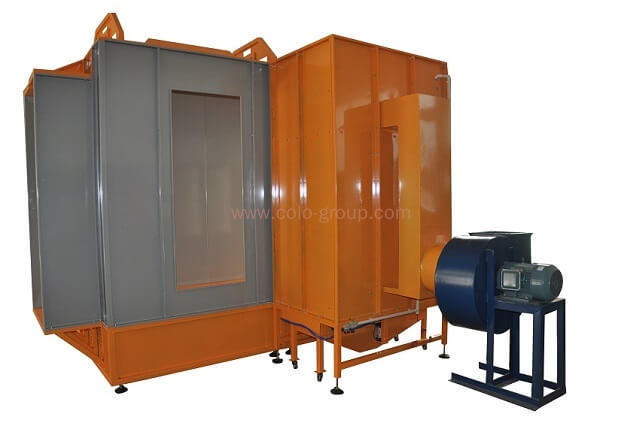 COLO-3212 Dual spray station powder painting coating booth