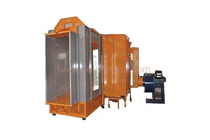 Dual spray station powder painting coating booth