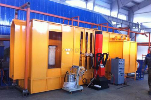 Filter Powder Coating Spray Booth for Single Color