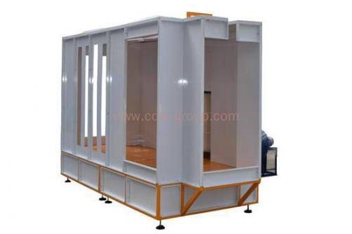 Filter Powder Coating Spray Booth System for LPG Tank / Cylinder