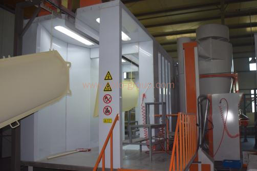 Automatic Mono Cyclone Powder Coating Spray Booth