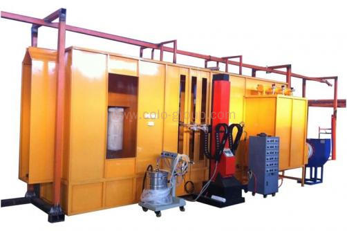 Automatic In-line Powder Coating Spray Booth for Single Color