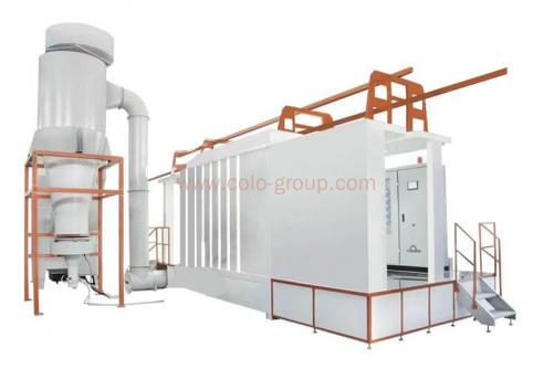 Plastic Powder Coating Spray Cyclone Booth