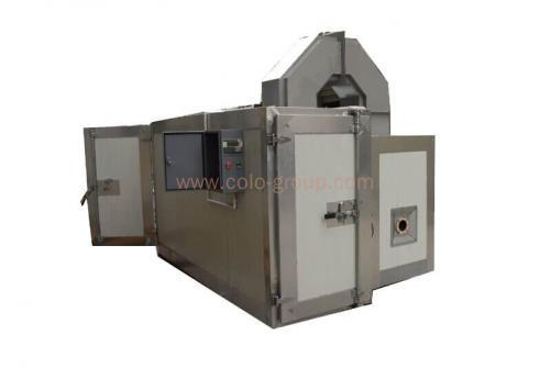 Small powder coating gas oven