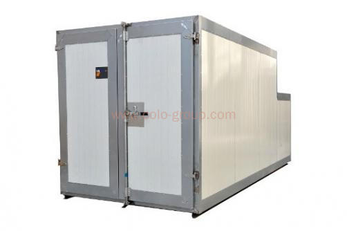 Gas powder coating batch oven