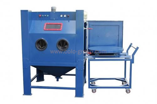 Heavy-duty Sandblasting Cabinet with Turntable